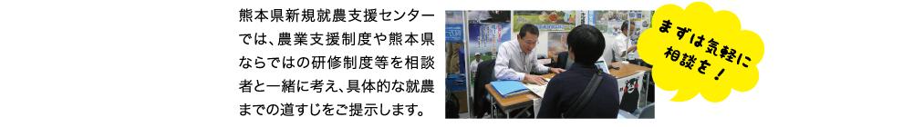 10熊本県新規就農センターでは